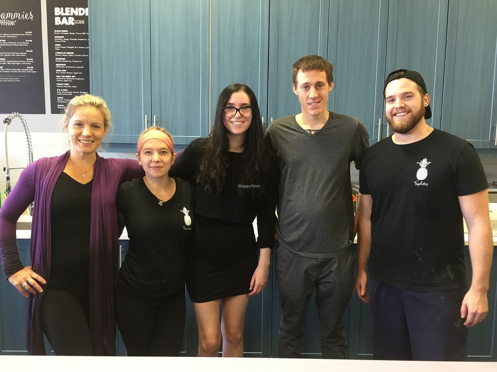 """Photo of Vegebitez  by <a href=""""/members/profile/DavidWaters"""">DavidWaters</a> <br/>The Staff and the Owner in the Middle <br/> November 1, 2015  - <a href='/contact/abuse/image/63316/123444'>Report</a>"""