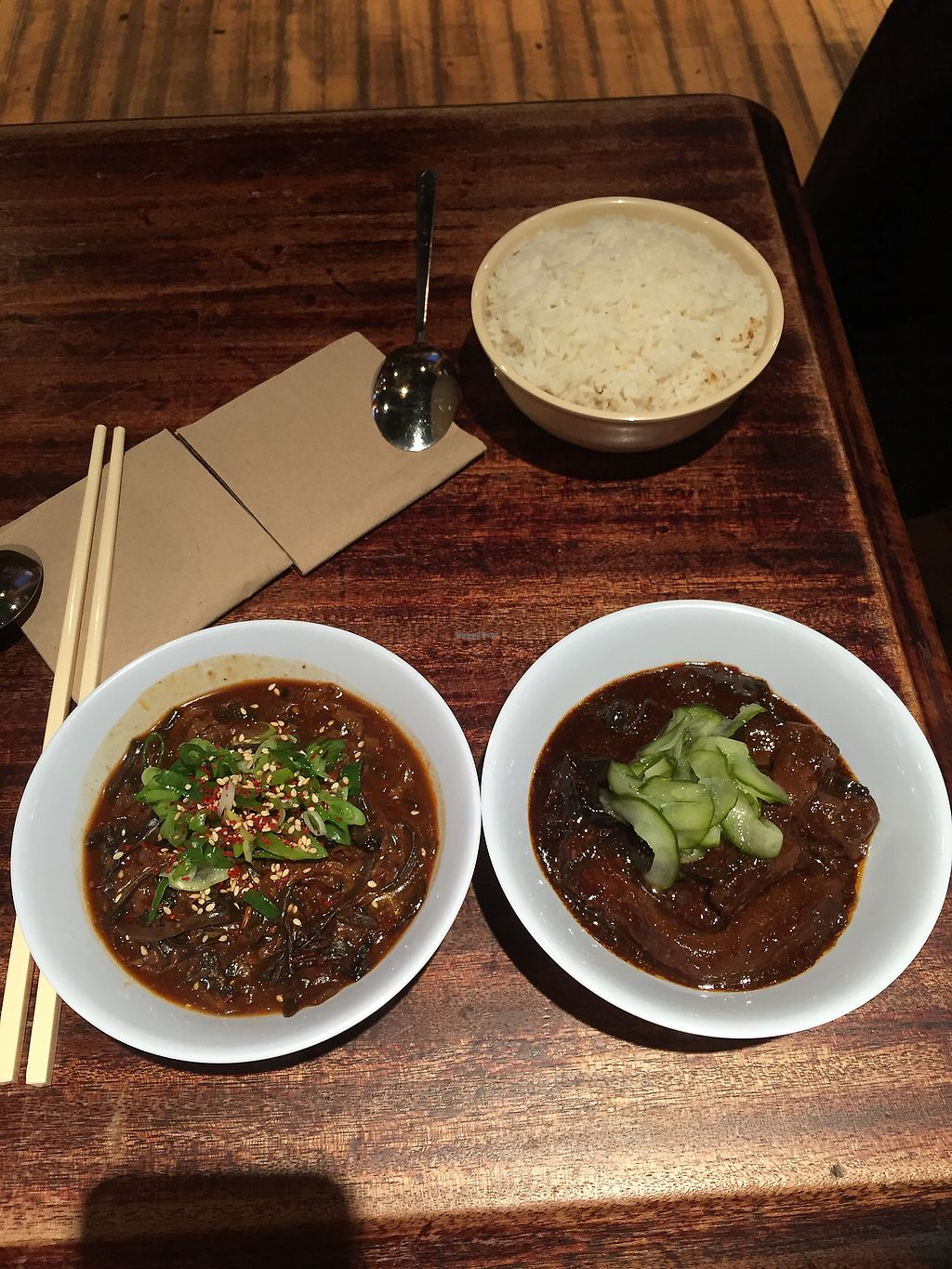 """Photo of The Hug and Pint  by <a href=""""/members/profile/milcheto"""">milcheto</a> <br/>Black fungus and beancurd. On the right- aubergine, pepper and pickled cucumbers <br/> January 26, 2018  - <a href='/contact/abuse/image/63341/351272'>Report</a>"""