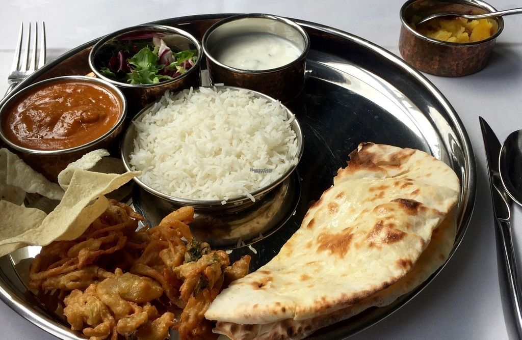 """Photo of Indian Temptation  by <a href=""""/members/profile/SteveWired"""">SteveWired</a> <br/>The yummy £7.95 lunch tali <br/> September 9, 2016  - <a href='/contact/abuse/image/63349/174605'>Report</a>"""