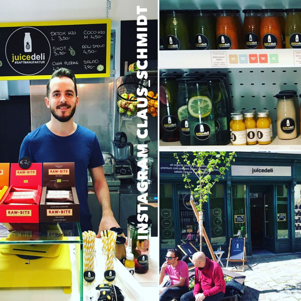 "Photo of Juicedeli Saftmanufaktur e.U.  by <a href=""/members/profile/ClausSchmidt"">ClausSchmidt</a> <br/>Getting poor in my favorite #juice #shop in #vienna . Bought #raw #vegan #plantbased #juices and #smoothies for my trip back to #nürnberg  <br/> April 26, 2016  - <a href='/contact/abuse/image/63377/146334'>Report</a>"