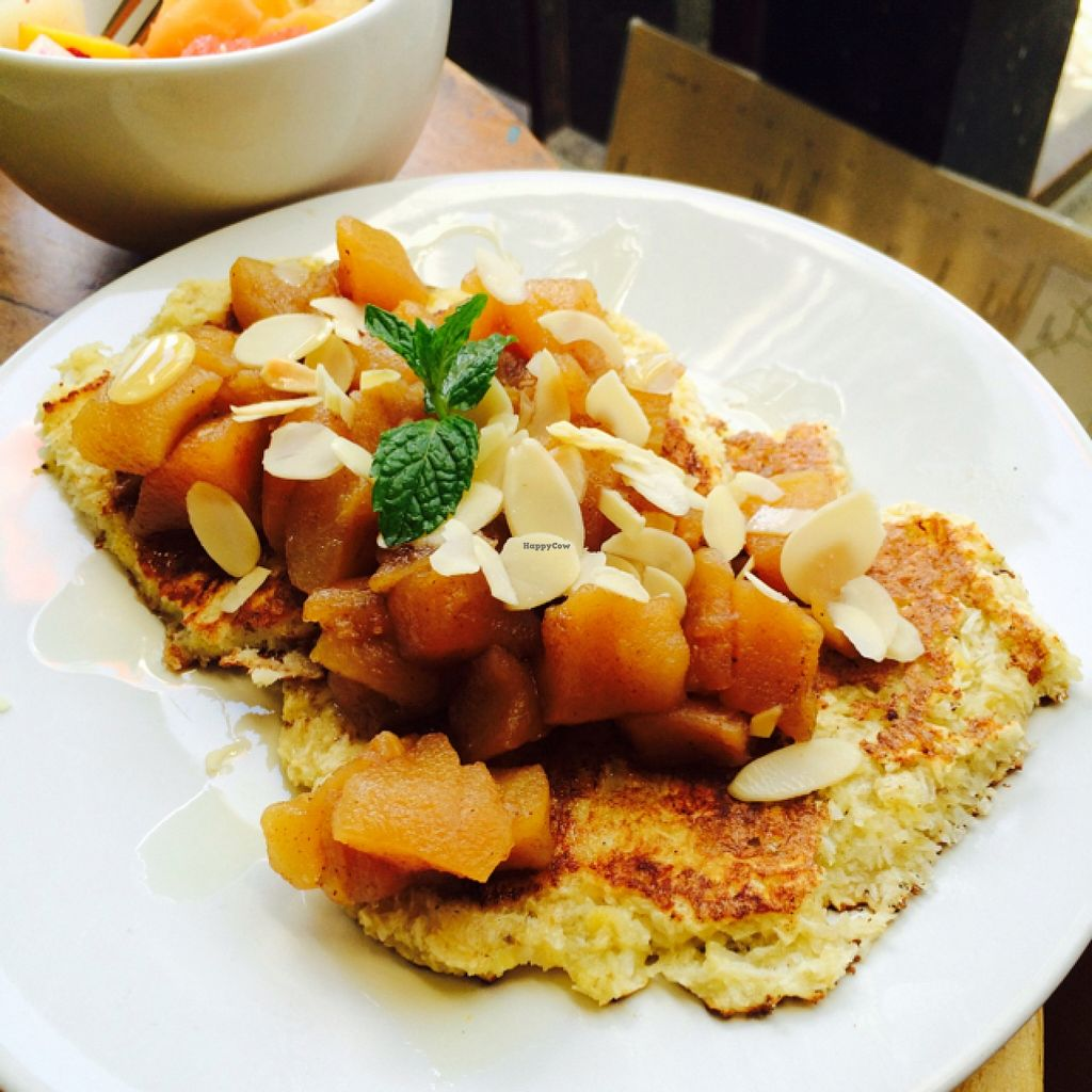 """Photo of Motion Cafe  by <a href=""""/members/profile/DaniM"""">DaniM</a> <br/>vegan pancake <br/> September 16, 2015  - <a href='/contact/abuse/image/63427/117993'>Report</a>"""