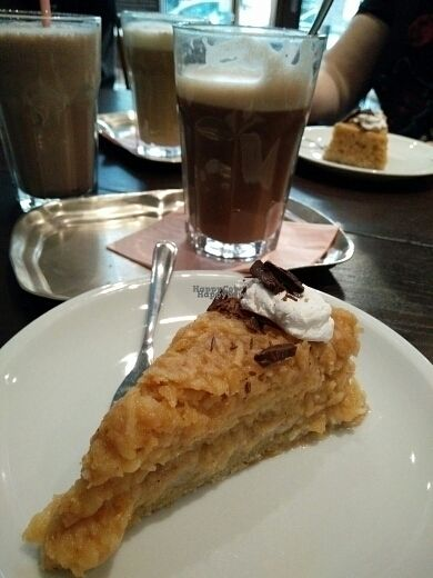 "Photo of DANKBAR Cafe und Bistro  by <a href=""/members/profile/Enma"">Enma</a> <br/>Swedish Apple Pie with a Chocolate-Milkshake and Latte Macchiato  <br/> October 15, 2016  - <a href='/contact/abuse/image/63449/182219'>Report</a>"