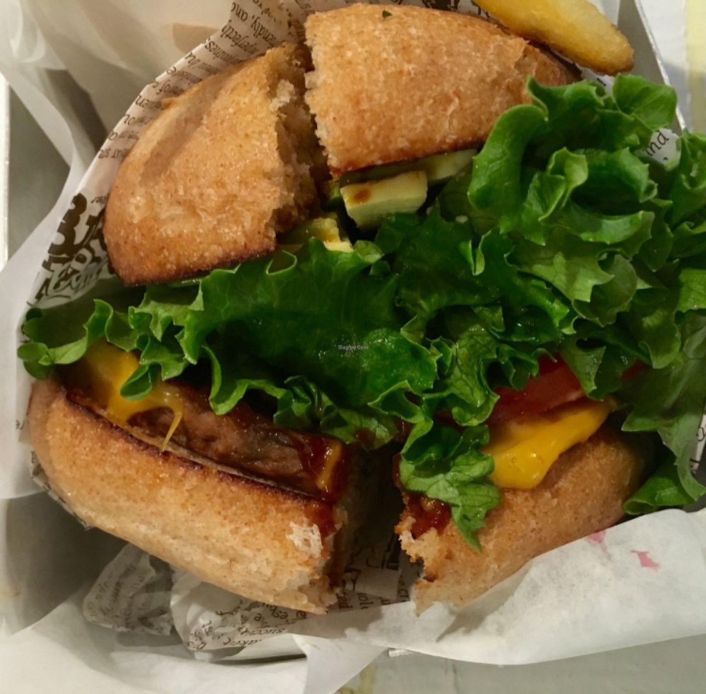 """Photo of VeganBurg  by <a href=""""/members/profile/Lures21"""">Lures21</a> <br/>BBQ burger  <br/> February 15, 2016  - <a href='/contact/abuse/image/63460/136503'>Report</a>"""