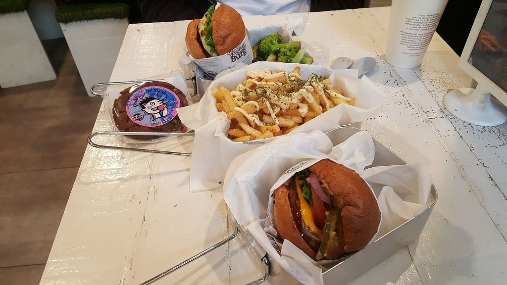 """Photo of VeganBurg  by <a href=""""/members/profile/sarahssoares"""">sarahssoares</a> <br/>Burgers, garlic fries and cookie <br/> March 27, 2018  - <a href='/contact/abuse/image/63460/376783'>Report</a>"""