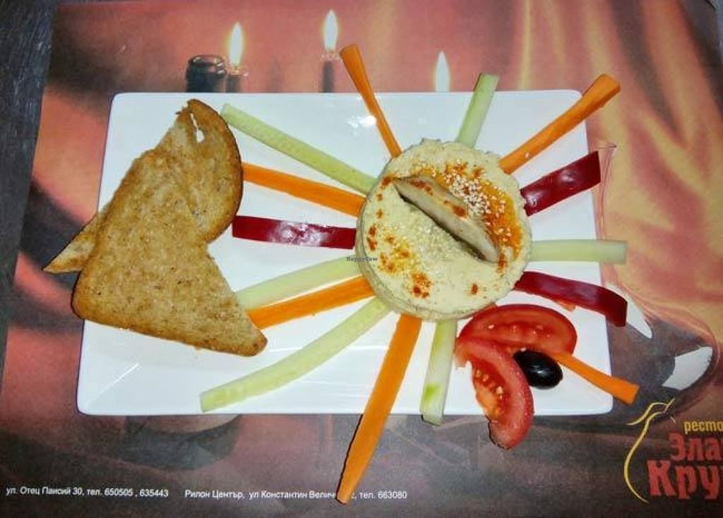 """Photo of Zlatna Krusha  by <a href=""""/members/profile/ira5"""">ira5</a> <br/>Humus with chickpeas and  tahini  <br/> September 17, 2015  - <a href='/contact/abuse/image/63462/118131'>Report</a>"""
