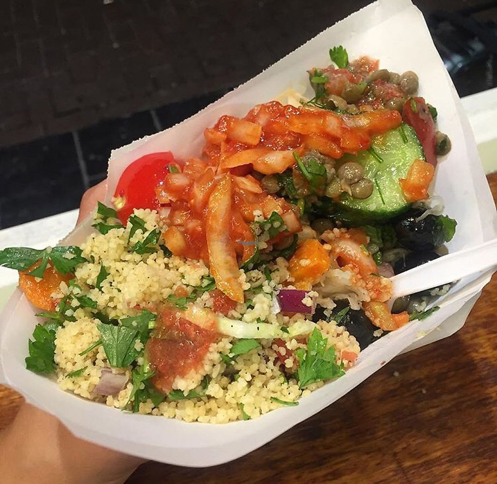 """Photo of Maoz Falafel - Albertcuypstraat  by <a href=""""/members/profile/AmyHuntt"""">AmyHuntt</a> <br/>falafel salad  <br/> December 3, 2016  - <a href='/contact/abuse/image/63473/197081'>Report</a>"""