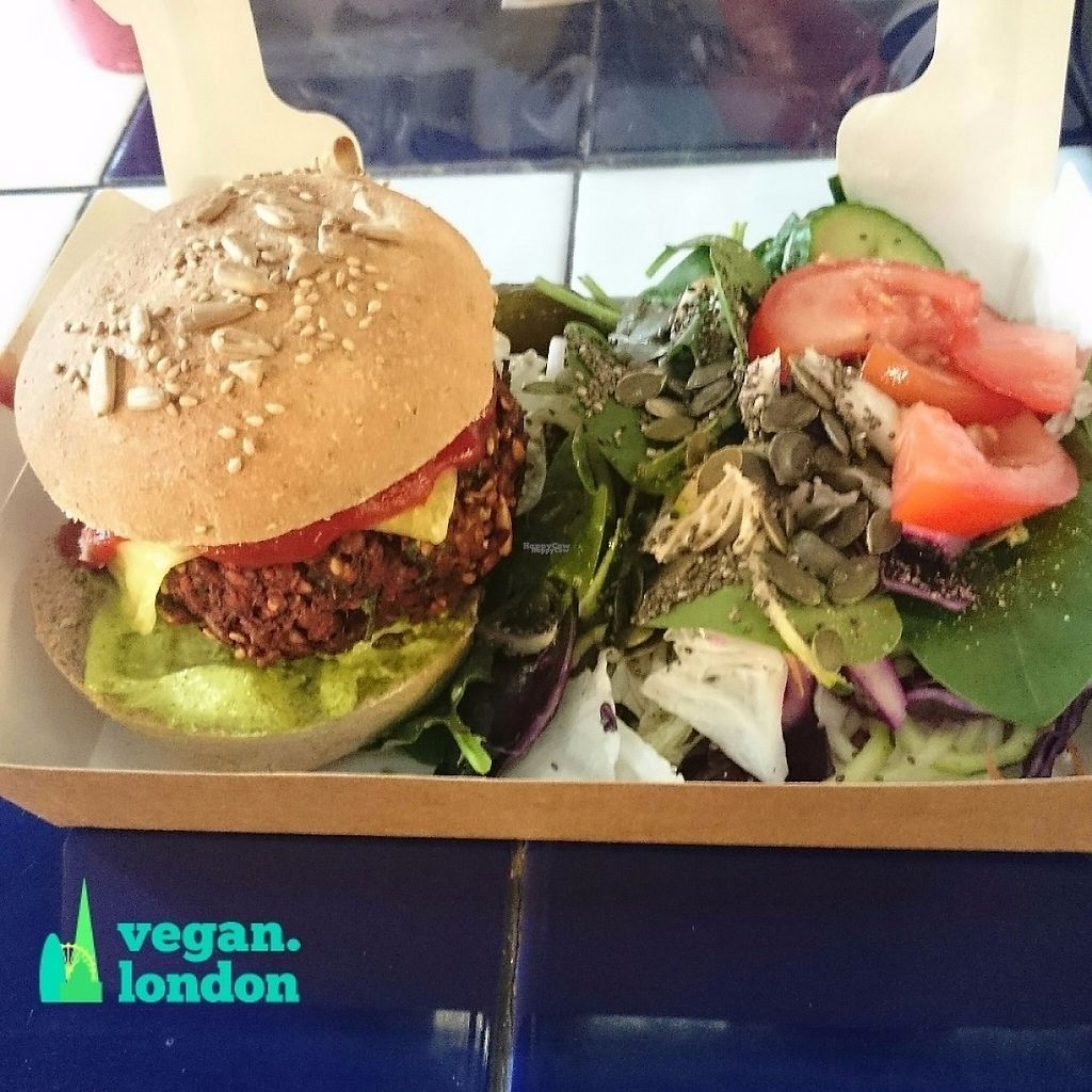 """Photo of The Feel Good Cafe  by <a href=""""/members/profile/robz"""">robz</a> <br/>Vegan burger and salad <br/> November 29, 2016  - <a href='/contact/abuse/image/63478/195873'>Report</a>"""