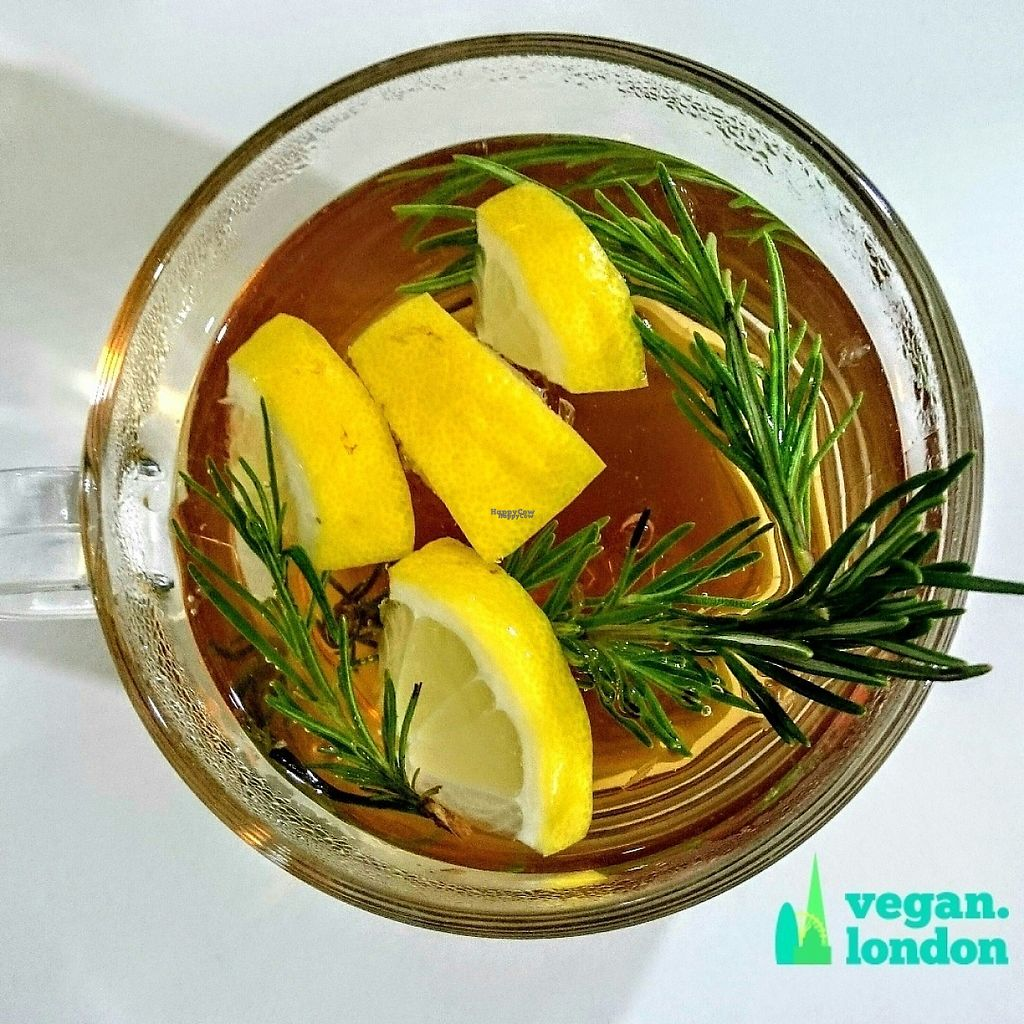 """Photo of The Feel Good Cafe  by <a href=""""/members/profile/robz"""">robz</a> <br/>Lemon and rosemary tea <br/> December 18, 2016  - <a href='/contact/abuse/image/63478/202662'>Report</a>"""