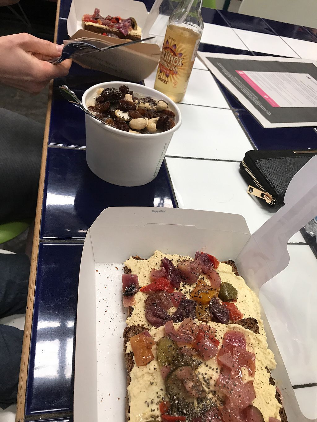 """Photo of The Feel Good Cafe  by <a href=""""/members/profile/gemmafee"""">gemmafee</a> <br/>porridge, and roasted vegetable and hummus on toast  <br/> July 27, 2017  - <a href='/contact/abuse/image/63478/285687'>Report</a>"""
