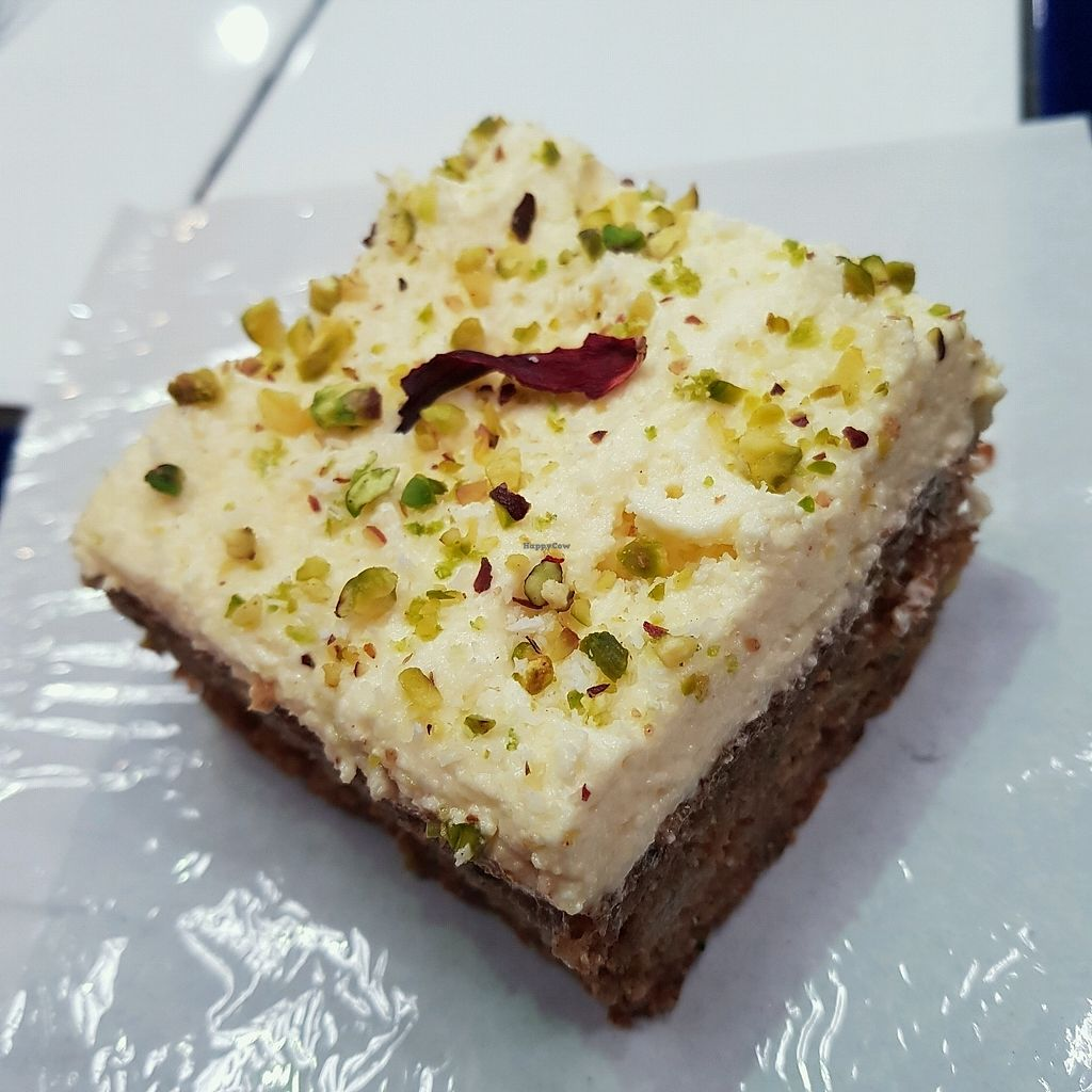 """Photo of The Feel Good Cafe  by <a href=""""/members/profile/Sassyvegan"""">Sassyvegan</a> <br/>Courgette cake  <br/> September 9, 2017  - <a href='/contact/abuse/image/63478/302604'>Report</a>"""