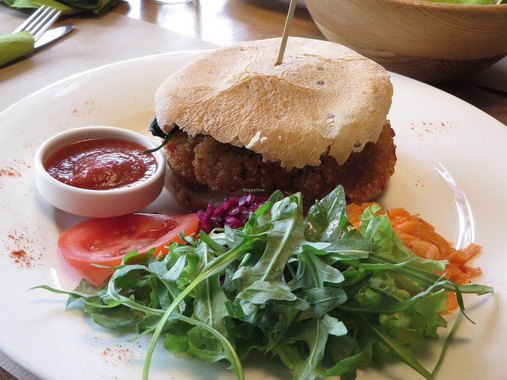 "Photo of Independent Cafe  by <a href=""/members/profile/HighlandCow"">HighlandCow</a> <br/>Quinoa Burger <br/> April 8, 2018  - <a href='/contact/abuse/image/63540/382695'>Report</a>"