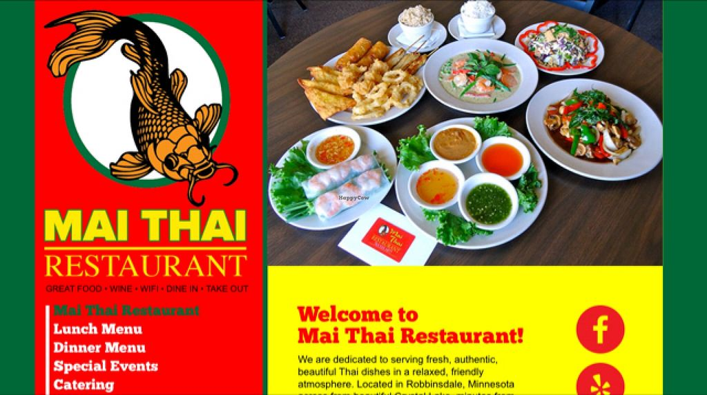 "Photo of Mai Thai  by <a href=""/members/profile/veganmarcy"">veganmarcy</a> <br/>Mai Thai, a family restaurant where everything can be made vegan & GF! <br/> November 16, 2015  - <a href='/contact/abuse/image/63541/125199'>Report</a>"