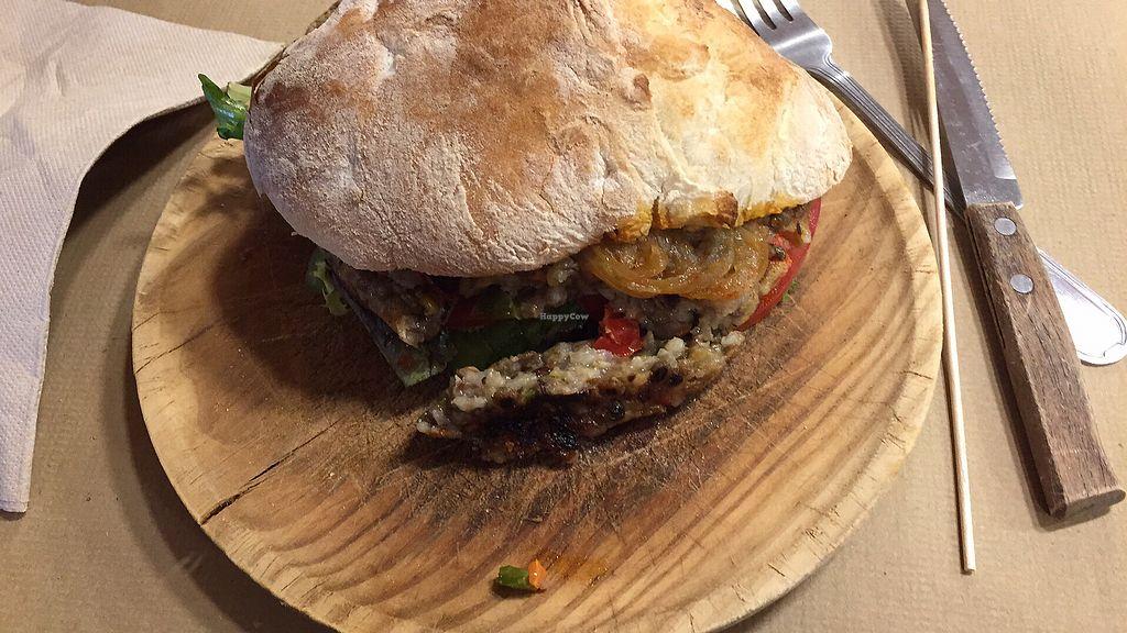 "Photo of Casa Alongos  by <a href=""/members/profile/Sandra79"">Sandra79</a> <br/>Vegan hamburger <br/> September 17, 2017  - <a href='/contact/abuse/image/63634/305419'>Report</a>"