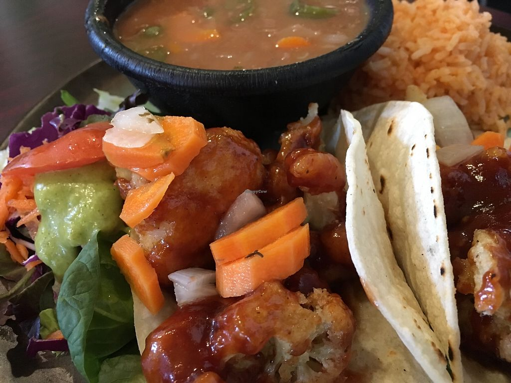"Photo of Viva Vegeria  by <a href=""/members/profile/cookiem"">cookiem</a> <br/>BBQ cauliflower tacos <br/> April 12, 2018  - <a href='/contact/abuse/image/63637/384709'>Report</a>"