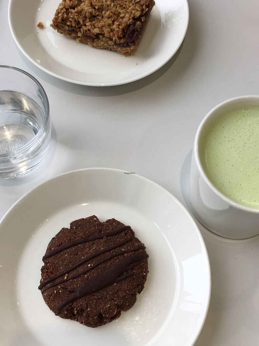 "Photo of Modern Baker  by <a href=""/members/profile/treehousecanoe"">treehousecanoe</a> <br/>Chocolate hazelnut cookie, matcha latte, date bar - ! Delicious! <br/> January 27, 2018  - <a href='/contact/abuse/image/63694/351551'>Report</a>"