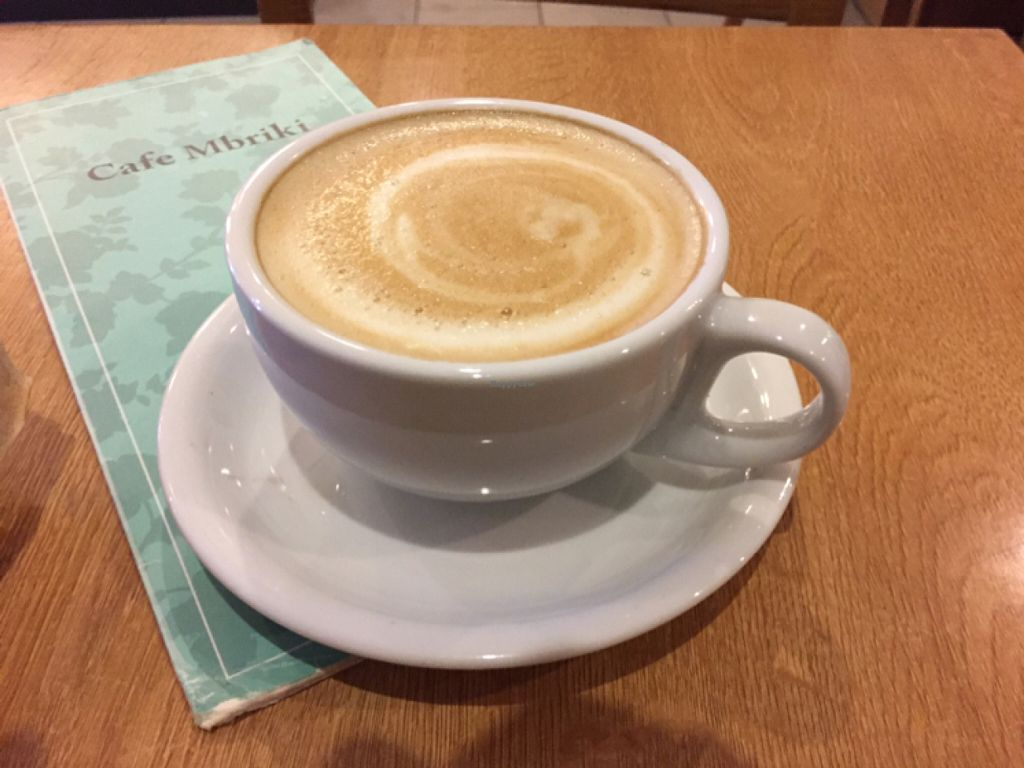 """Photo of Cafe Mbriki  by <a href=""""/members/profile/Chris_D"""">Chris_D</a> <br/>Soya latte <br/> June 10, 2016  - <a href='/contact/abuse/image/63702/153263'>Report</a>"""