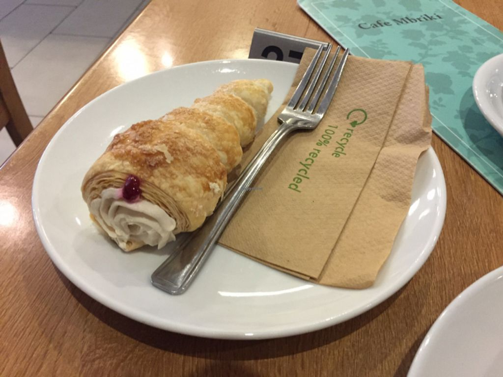 """Photo of Cafe Mbriki  by <a href=""""/members/profile/Chris_D"""">Chris_D</a> <br/>Vegan Cream Horn <br/> June 10, 2016  - <a href='/contact/abuse/image/63702/153264'>Report</a>"""