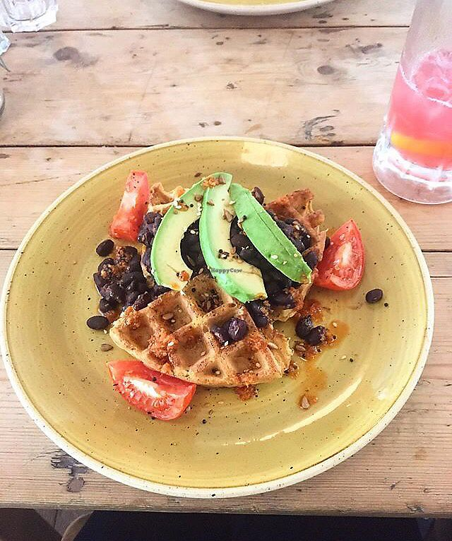 "Photo of Mercado Lounge  by <a href=""/members/profile/IzzyBentley"">IzzyBentley</a> <br/>Vegan Sweet Potato Waffles with Black Beans and Avocado <br/> March 17, 2018  - <a href='/contact/abuse/image/63711/372010'>Report</a>"