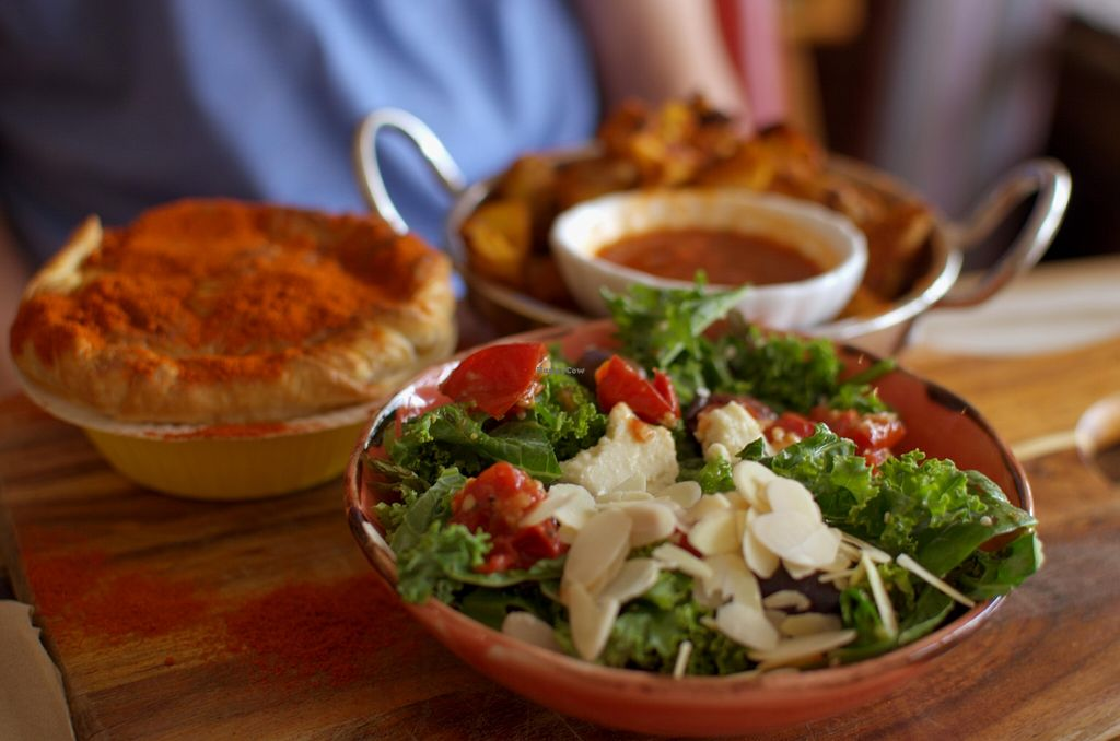 """Photo of CLOSED: From the Art Ethical Handicrafts and Cafe  by <a href=""""/members/profile/chocoholicPhilosophe"""">chocoholicPhilosophe</a> <br/>'Beef' pie with salad and wedges <br/> March 1, 2016  - <a href='/contact/abuse/image/63760/138276'>Report</a>"""
