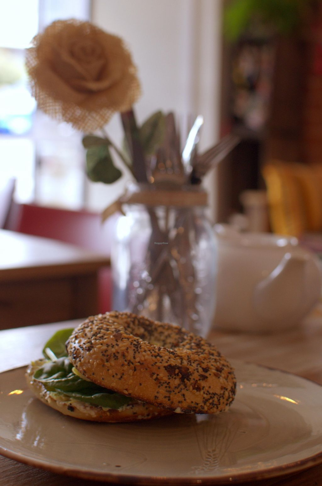 """Photo of CLOSED: From the Art Ethical Handicrafts and Cafe  by <a href=""""/members/profile/chocoholicPhilosophe"""">chocoholicPhilosophe</a> <br/>Avocado and vegan brie bagel <br/> March 31, 2016  - <a href='/contact/abuse/image/63760/142026'>Report</a>"""