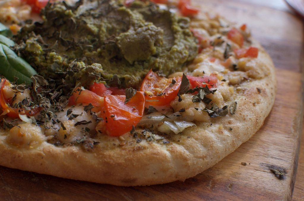 """Photo of CLOSED: From the Art Ethical Handicrafts and Cafe  by <a href=""""/members/profile/chocoholicPhilosophe"""">chocoholicPhilosophe</a> <br/>Lebanese Za'atar Pizza (with vegan everything) <br/> April 23, 2016  - <a href='/contact/abuse/image/63760/145906'>Report</a>"""
