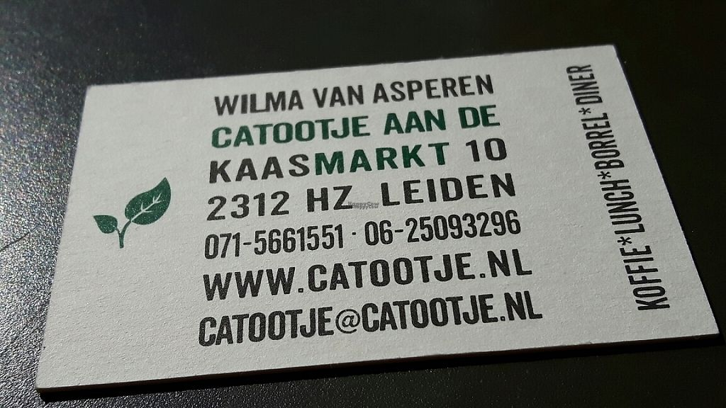 "Photo of Catootje aan de Markt  by <a href=""/members/profile/dina_v"">dina_v</a> <br/>Business card  <br/> April 4, 2017  - <a href='/contact/abuse/image/63800/244611'>Report</a>"