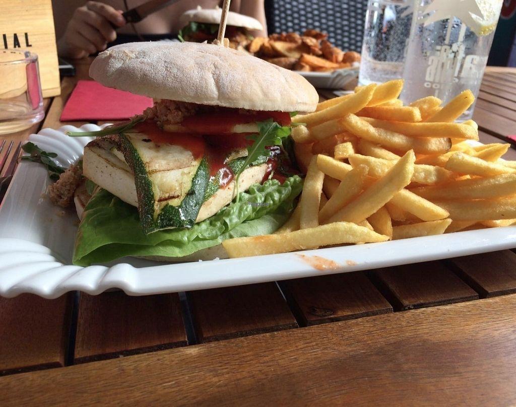 "Photo of Homeburgers  by <a href=""/members/profile/Tobias%20Boletaria"">Tobias Boletaria</a> <br/>Vegan grilled tofu burger <br/> October 15, 2016  - <a href='/contact/abuse/image/63863/182269'>Report</a>"