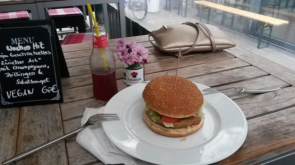 """Photo of Kunstküche  by <a href=""""/members/profile/Makai%20Tamas"""">Makai Tamas</a> <br/>Delicious vegan burger <br/> September 27, 2015  - <a href='/contact/abuse/image/63865/119342'>Report</a>"""