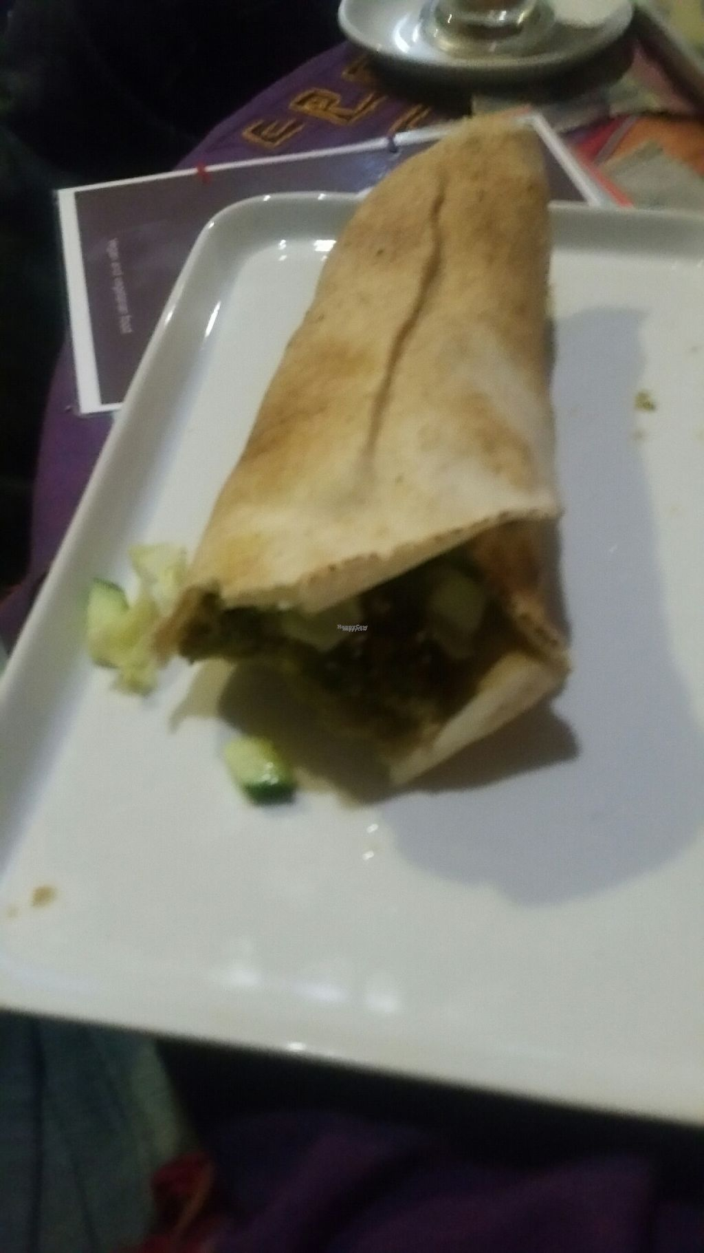 """Photo of Cafe Shanti  by <a href=""""/members/profile/KatieBatty"""">KatieBatty</a> <br/>Falafel and hummus wrap <br/> February 13, 2017  - <a href='/contact/abuse/image/63874/226225'>Report</a>"""