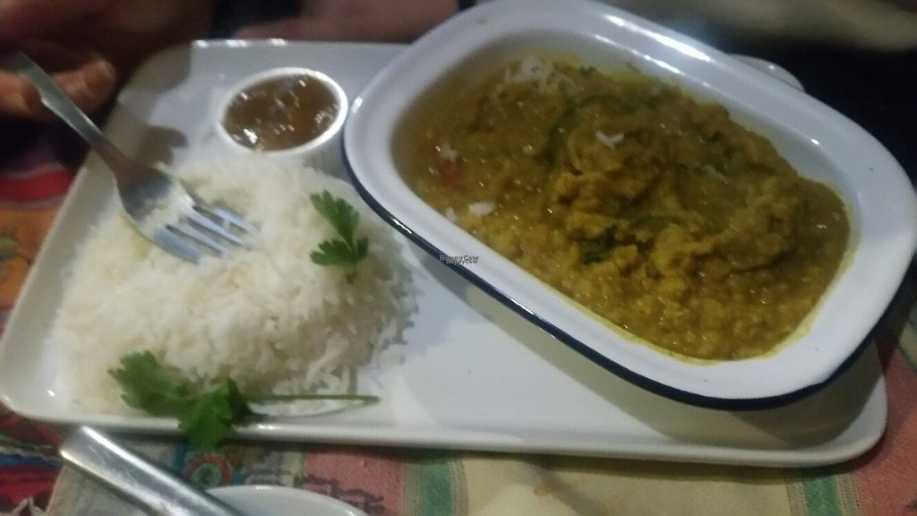 """Photo of Cafe Shanti  by <a href=""""/members/profile/KatieBatty"""">KatieBatty</a> <br/>A different vegan curry <br/> February 13, 2017  - <a href='/contact/abuse/image/63874/226227'>Report</a>"""