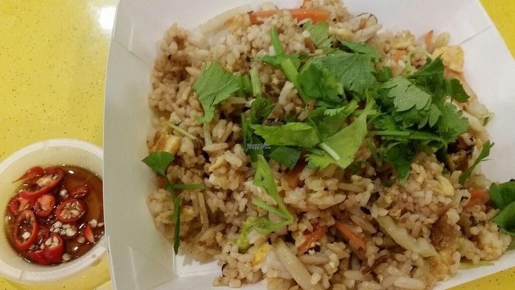 """Photo of Vegemore Restaurant & Food Trading  by <a href=""""/members/profile/JimmySeah"""">JimmySeah</a> <br/>Vegemore (mock) pork fried rice <br/> October 11, 2016  - <a href='/contact/abuse/image/63902/181394'>Report</a>"""