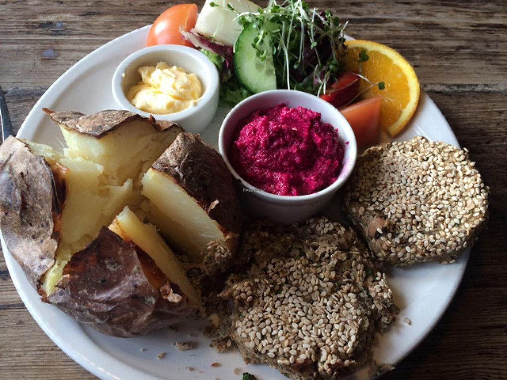 "Photo of Caudwell's Mill Craft Centre  by <a href=""/members/profile/Libra77"">Libra77</a> <br/>Rissoles and beetroot houmous  <br/> February 2, 2015  - <a href='/contact/abuse/image/6396/92031'>Report</a>"
