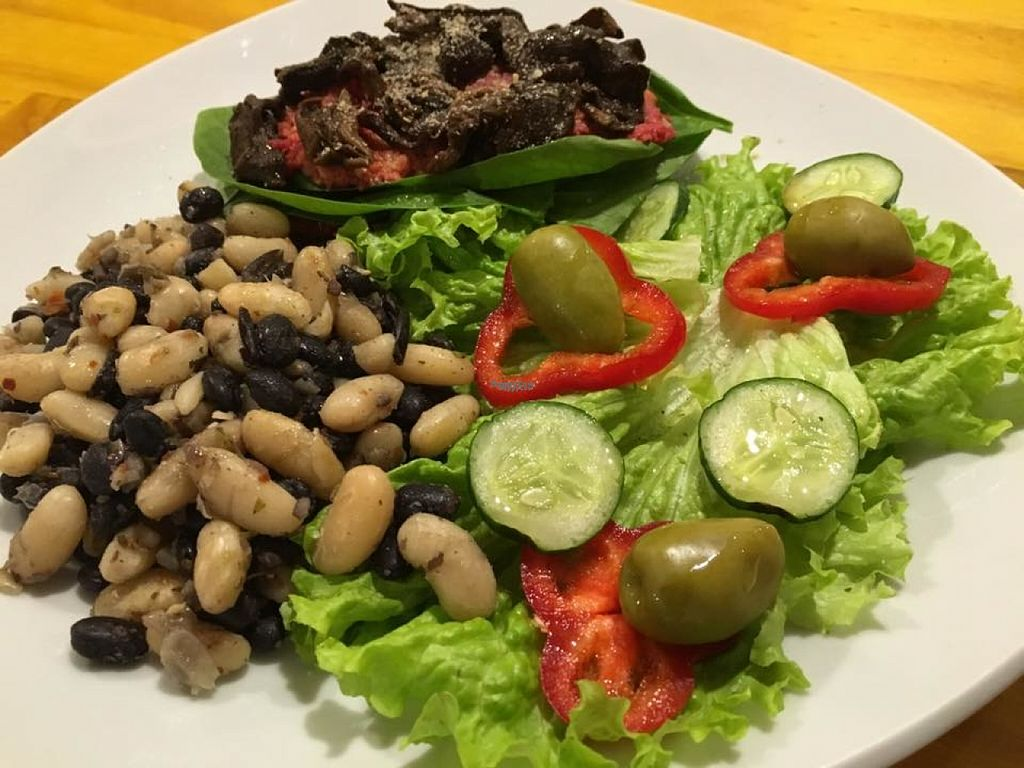 "Photo of RasLok  by <a href=""/members/profile/madjennsy"">madjennsy</a> <br/>zucchini rolls, onion with mushrooms, tomatoes, mijo, spinach and peanut butter with side salad with legumes.