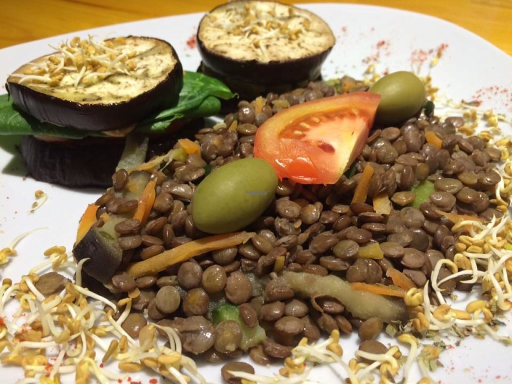 "Photo of RasLok  by <a href=""/members/profile/madjennsy"">madjennsy</a> <br/>Tortilla Squash, Eggplant burger filled with tomato, sweet potato and spinach. Lentils cooked in Wok style.