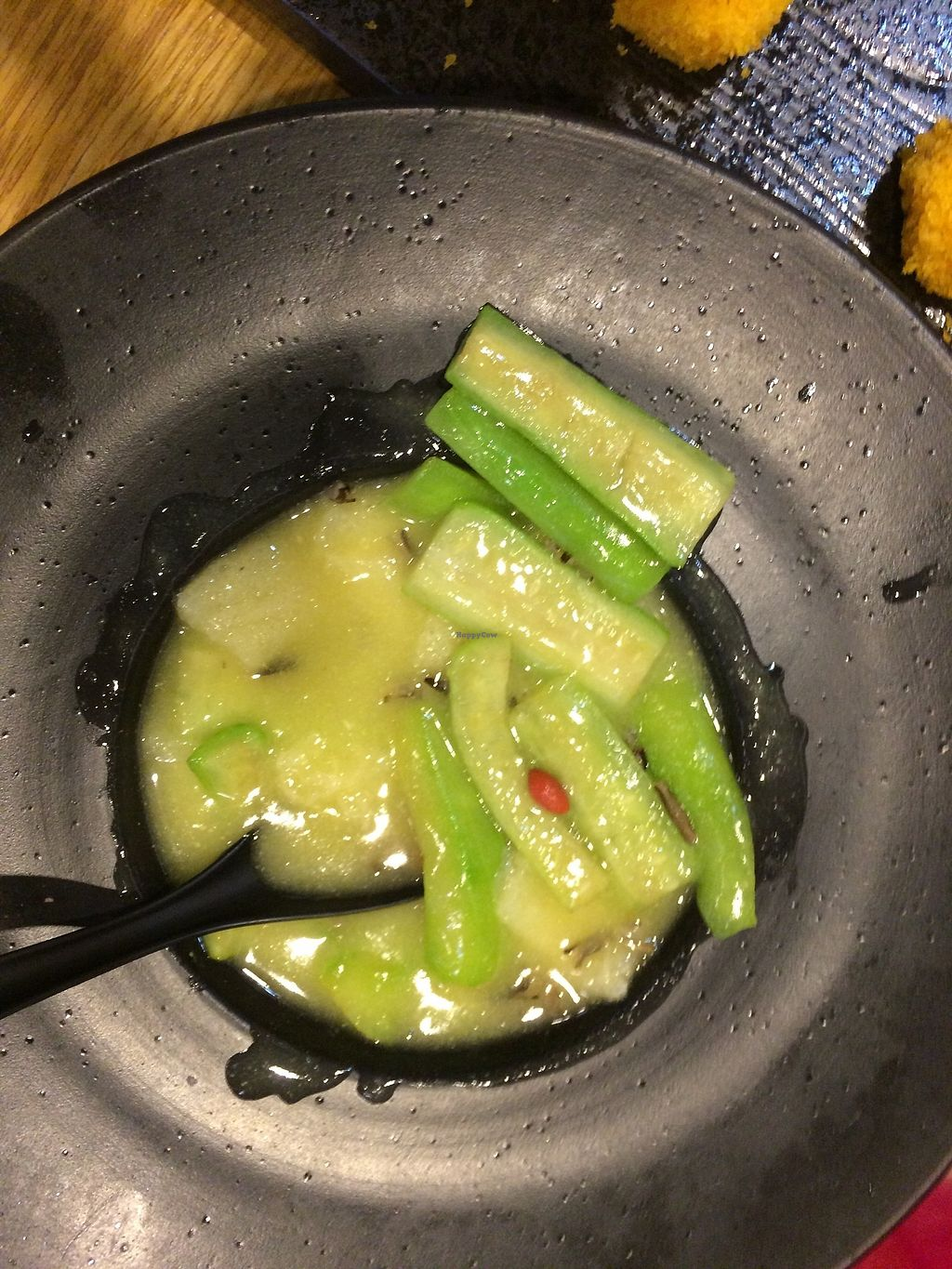 "Photo of The Buddha Tree  by <a href=""/members/profile/veganinseattle"">veganinseattle</a> <br/>Braised green squash with white fungus and goji berry <br/> August 12, 2017  - <a href='/contact/abuse/image/63989/291915'>Report</a>"