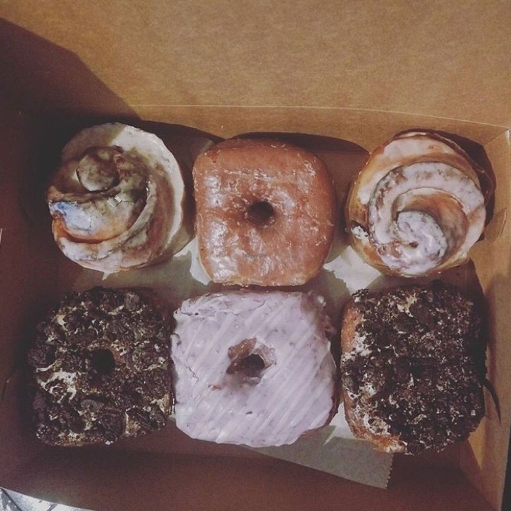 """Photo of Valhalla Bakery - Market on South  by <a href=""""/members/profile/KaitlynMallory"""">KaitlynMallory</a> <br/>TOP L-R: cinnamon roll, regular glazed, cinnamon roll // BOTTOM L-R: PB Oreo, Blueberry, PB Oreo <br/> April 6, 2016  - <a href='/contact/abuse/image/64002/143137'>Report</a>"""