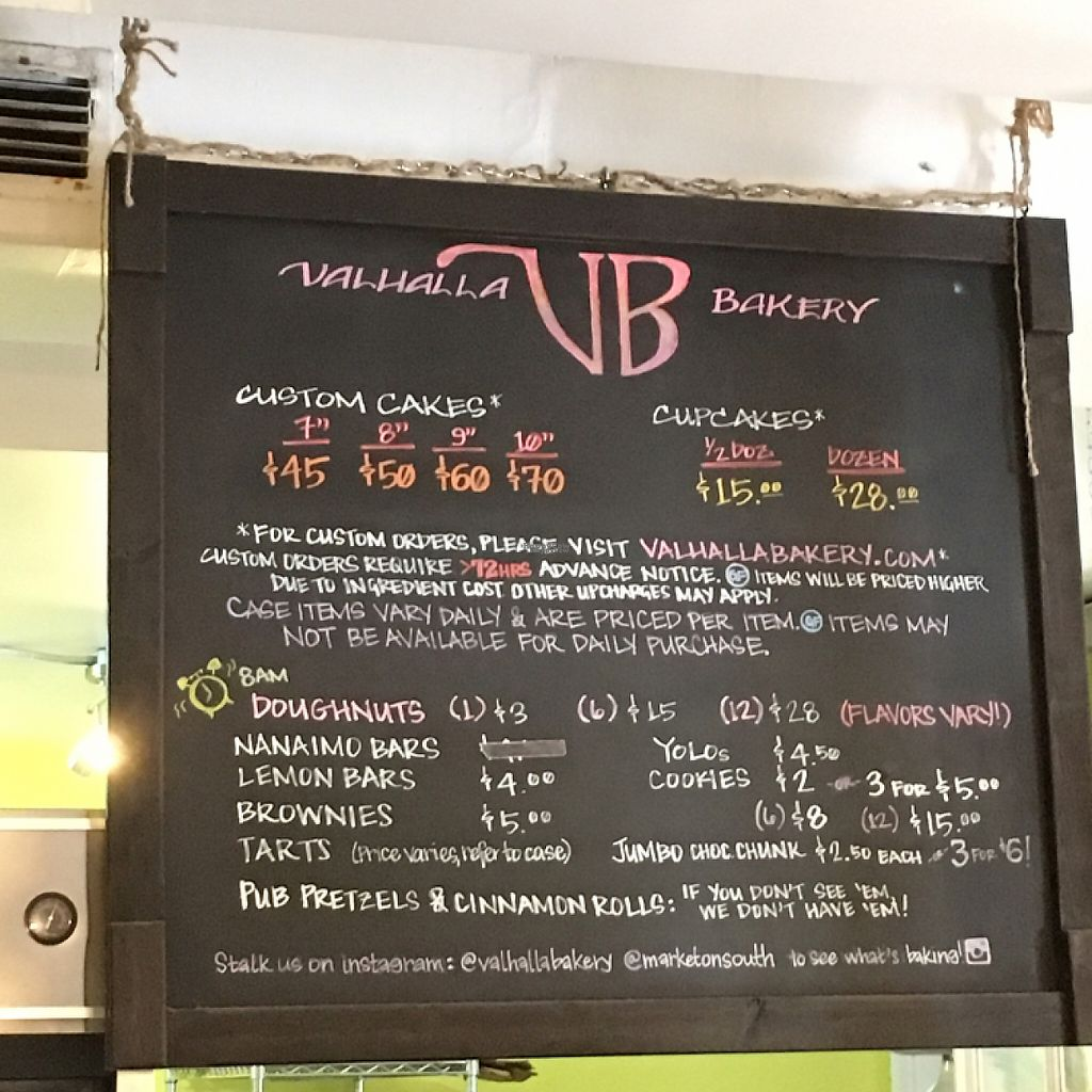 """Photo of Valhalla Bakery - Market on South  by <a href=""""/members/profile/KWdaddio"""">KWdaddio</a> <br/>Valhalla bakery menu board <br/> December 30, 2016  - <a href='/contact/abuse/image/64002/206261'>Report</a>"""