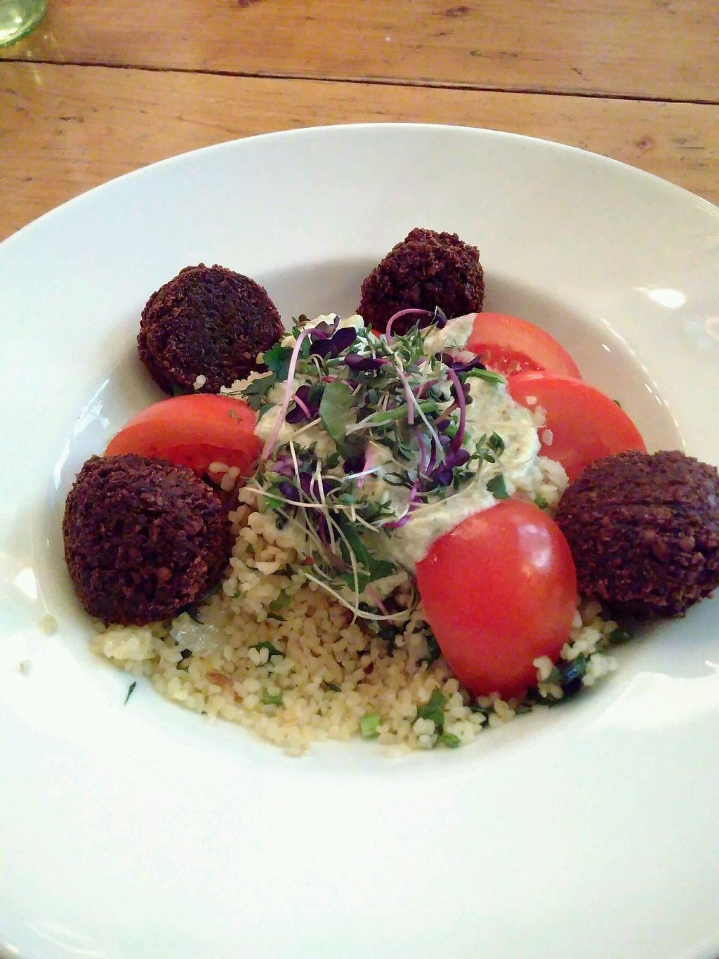 """Photo of Margarete  by <a href=""""/members/profile/UDth"""">UDth</a> <br/>Falafel with bulgur salad and tahina with lemon <br/> January 27, 2018  - <a href='/contact/abuse/image/64004/351412'>Report</a>"""