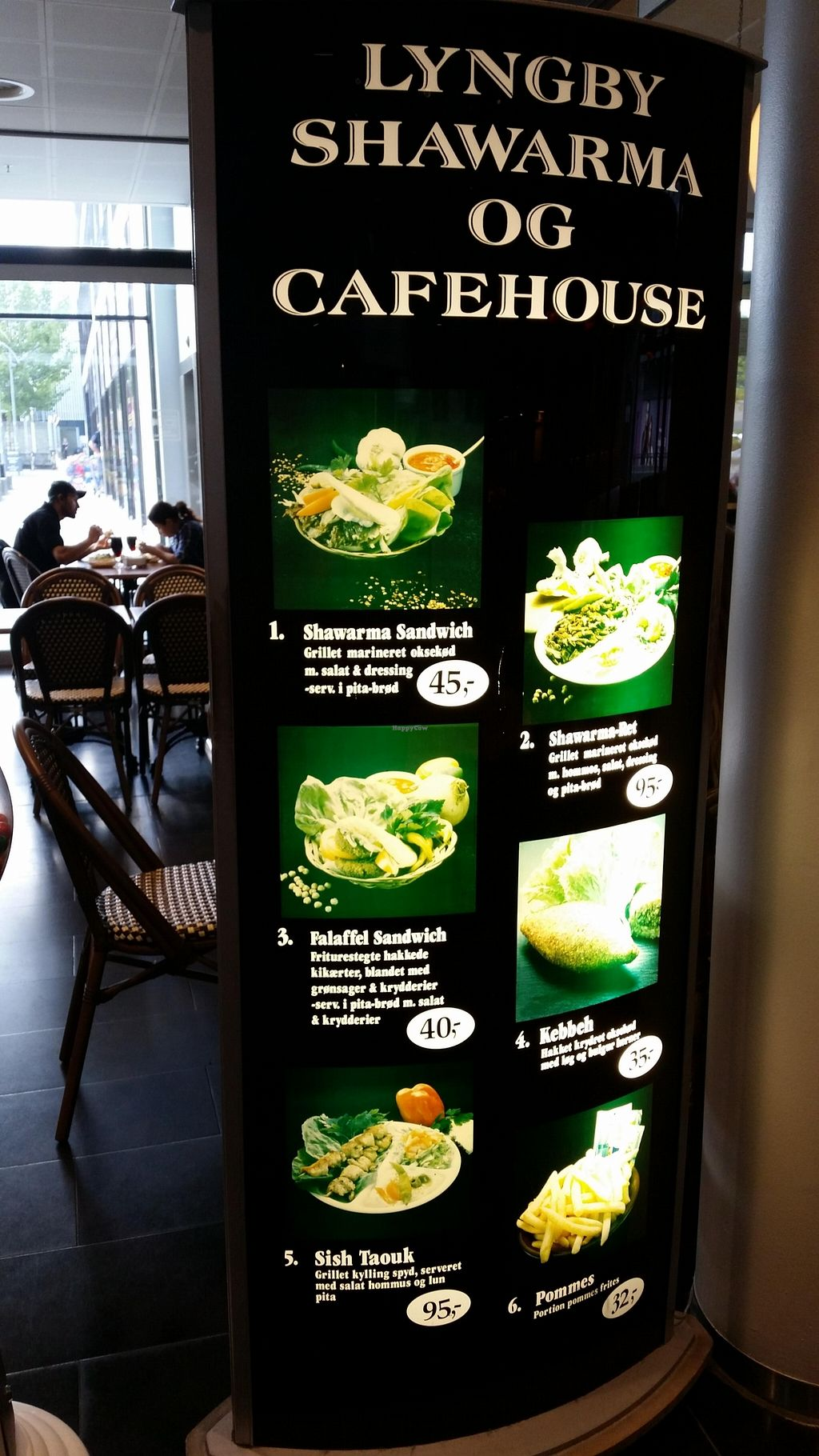 """Photo of Lyngby Shawarma House  by <a href=""""/members/profile/konlish"""">konlish</a> <br/>Outside menu board <br/> September 29, 2015  - <a href='/contact/abuse/image/64005/119547'>Report</a>"""