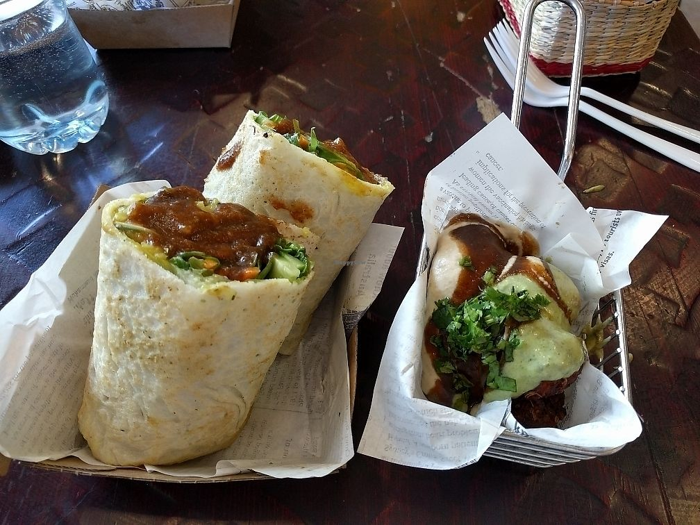 """Photo of Nalini's  by <a href=""""/members/profile/LiamThomson"""">LiamThomson</a> <br/>masala wrap and falafels <br/> June 12, 2017  - <a href='/contact/abuse/image/64041/268295'>Report</a>"""