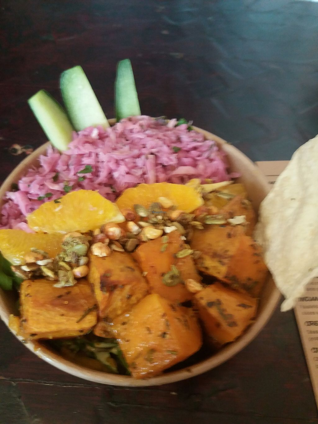 """Photo of Nalini's  by <a href=""""/members/profile/veganvirtues"""">veganvirtues</a> <br/>Dosa roasted bowl <br/> September 22, 2017  - <a href='/contact/abuse/image/64041/306966'>Report</a>"""