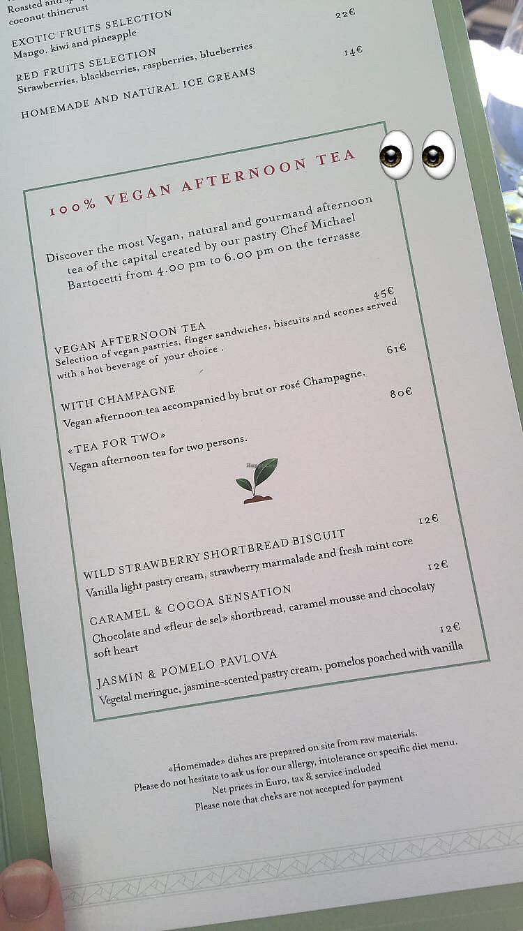 """Photo of Shangri-La Hotel - lounge  by <a href=""""/members/profile/LauraHaines"""">LauraHaines</a> <br/>Vegan afternoon tea menu  <br/> July 6, 2017  - <a href='/contact/abuse/image/64090/277067'>Report</a>"""