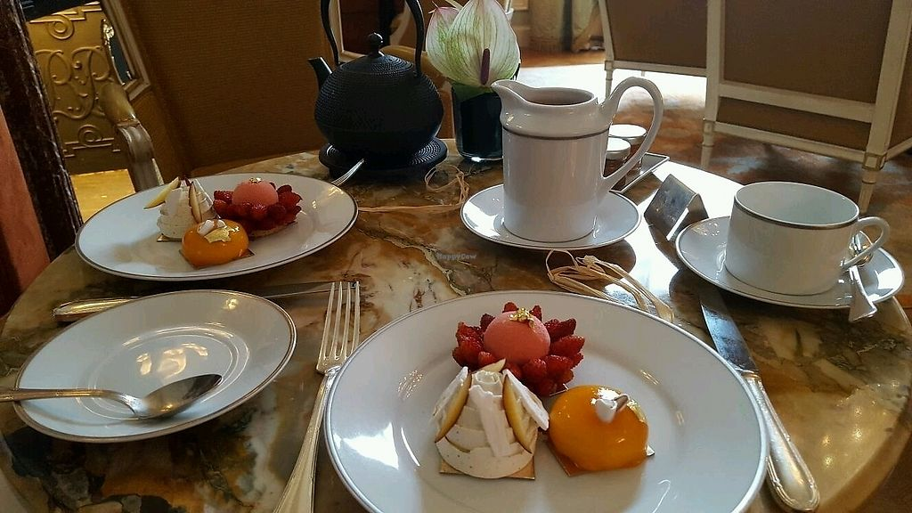 """Photo of Shangri-La Hotel - lounge  by <a href=""""/members/profile/TrevorS"""">TrevorS</a> <br/>Vegan Tea time  <br/> November 12, 2017  - <a href='/contact/abuse/image/64090/324899'>Report</a>"""