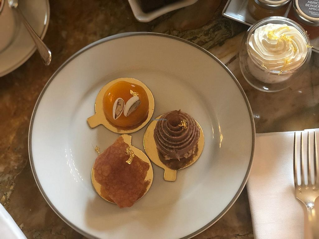 """Photo of Shangri-La Hotel - lounge  by <a href=""""/members/profile/fievos"""">fievos</a> <br/>Cakes from the vegan afternoon tea <br/> April 4, 2018  - <a href='/contact/abuse/image/64090/380825'>Report</a>"""