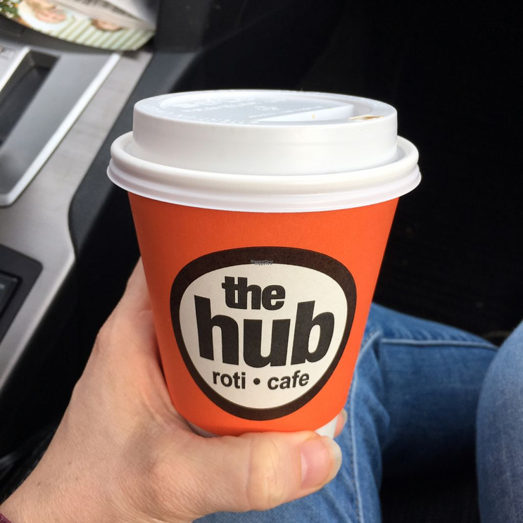 """Photo of The Hub Roti Cafe  by <a href=""""/members/profile/Laine88"""">Laine88</a> <br/>great coffee options, and they have wine options too!  <br/> January 21, 2017  - <a href='/contact/abuse/image/64091/214160'>Report</a>"""