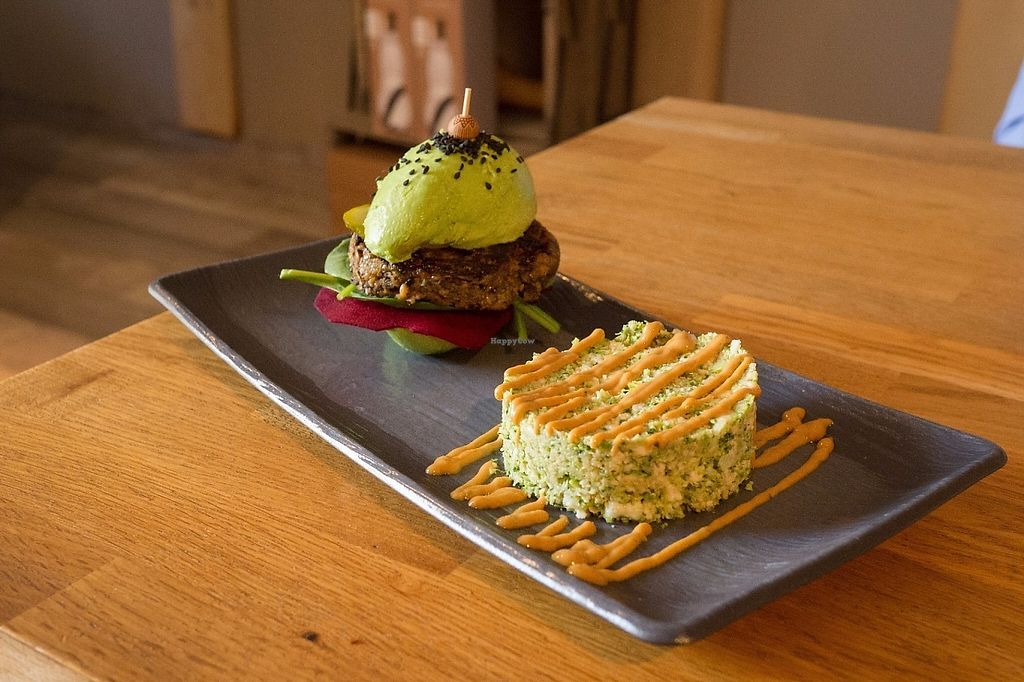 """Photo of Vegan Gorilla  by <a href=""""/members/profile/HighlandCow"""">HighlandCow</a> <br/>avocado burger <br/> May 3, 2017  - <a href='/contact/abuse/image/64096/255235'>Report</a>"""