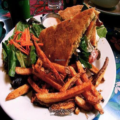 "Photo of Annapurna's World Vegetarian Cafe - UNM  by <a href=""/members/profile/vivaluv"">vivaluv</a> <br/>ABC (Avocado, Tempeh Bacon and Cheddar Cheese w/ Masala Fries) <br/> May 3, 2010  - <a href='/contact/abuse/image/6410/4415'>Report</a>"