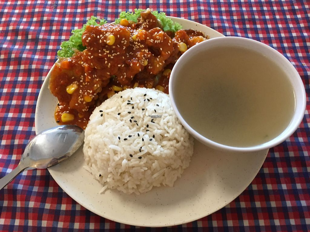 """Photo of Book Cafe  by <a href=""""/members/profile/BryanHu"""">BryanHu</a> <br/>spicy abalone mushroom with rice <br/> March 29, 2017  - <a href='/contact/abuse/image/64126/242320'>Report</a>"""