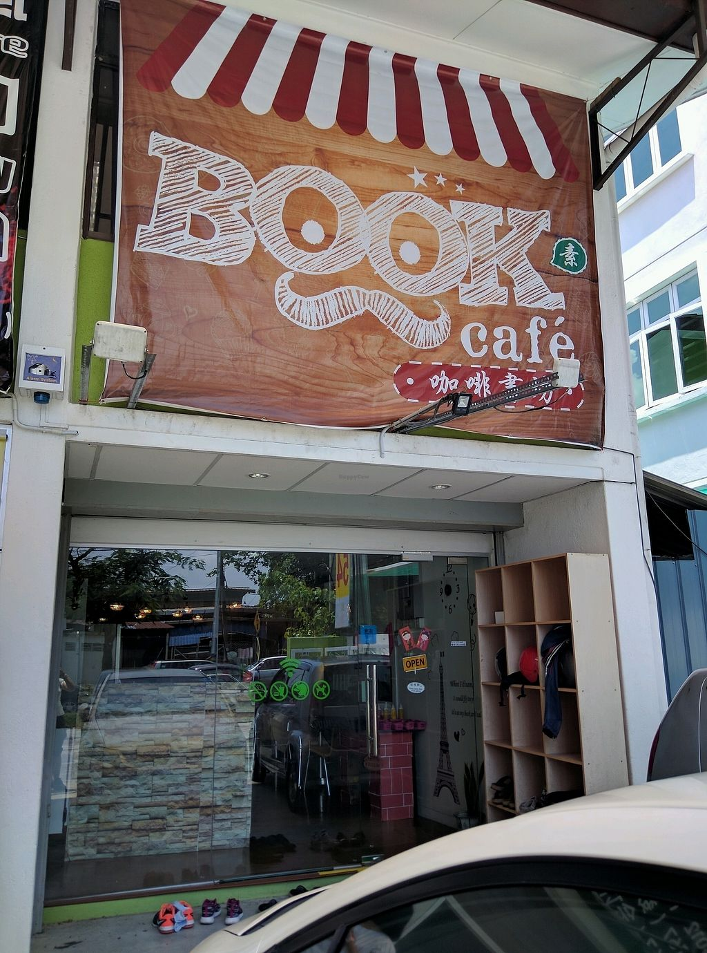 """Photo of Book Cafe  by <a href=""""/members/profile/Summer_Tan"""">Summer_Tan</a> <br/>9 Degrees Book Cafe's (Vegetarian Cafe) storefront <br/> January 27, 2018  - <a href='/contact/abuse/image/64126/351517'>Report</a>"""