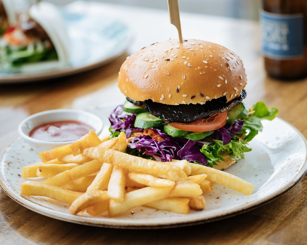 """Photo of V Series  by <a href=""""/members/profile/V%20Series"""">V Series</a> <br/>Vegan Burger <br/> March 7, 2018  - <a href='/contact/abuse/image/64133/367919'>Report</a>"""
